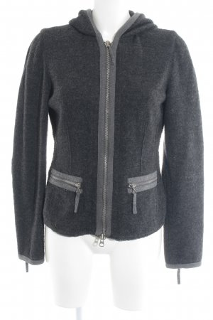 Marc O'Polo Wolljacke anthrazit-dunkelgrau meliert Casual-Look