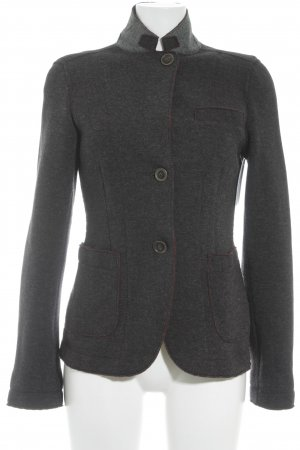 Marc O'Polo Wolljacke anthrazit-dunkelrot meliert Casual-Look