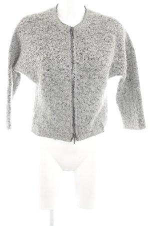 Marc O'Polo Chaqueta de lana gris claro moteado look casual
