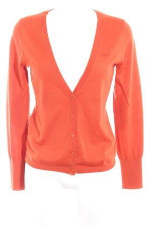Marc O'Polo Veste en laine gris-orange foncé style simple