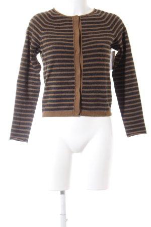 Marc O'Polo Veste en laine taupe-marron clair motif rayé style décontracté