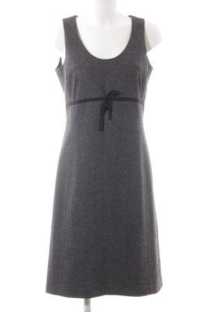 Marc O'Polo Wollen jurk donkergrijs-zwart gestippeld elegant