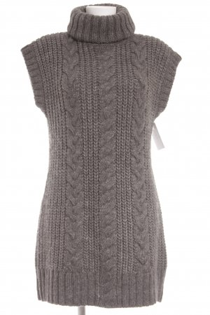 Marc O'Polo Wollkleid grau Lochstrickmuster Casual-Look