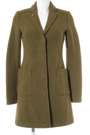 Marc O'Polo Cappotto in lana verde oliva stile casual