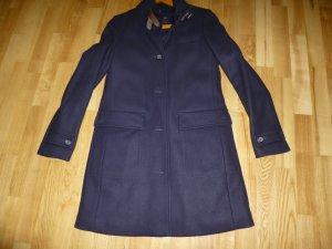 Marc O'Polo Wool Coat dark blue mixture fibre