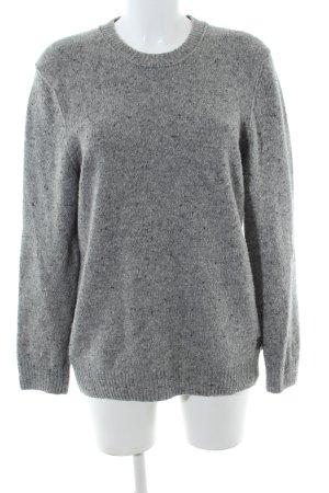 Marc O'Polo Wool Sweater light grey-black flecked casual look