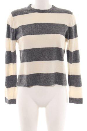 Marc O'Polo Jersey de lana gris claro-blanco puro estampado a rayas