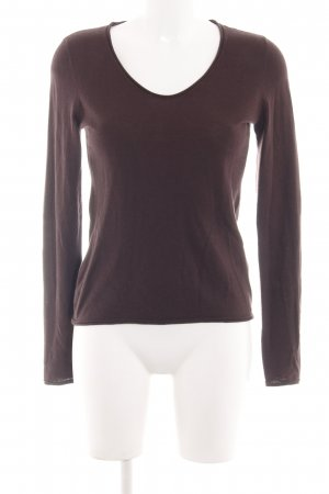 Marc O'Polo Wollpullover braun Casual-Look