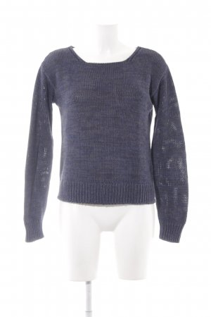 Marc O'Polo Wollpullover dunkelblau-anthrazit Casual-Look