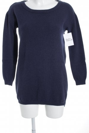 Marc O'Polo Wollpullover dunkelblau Casual-Look