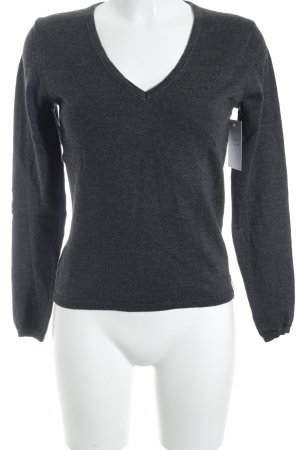 Marc O'Polo Wollpullover dunkelgrau Casual-Look