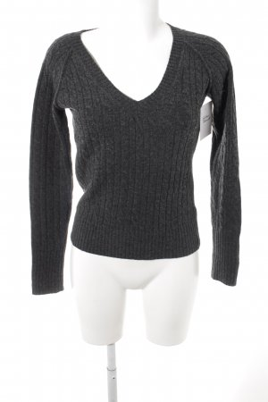 Marc O'Polo Wool Sweater dark grey cable stitch casual look