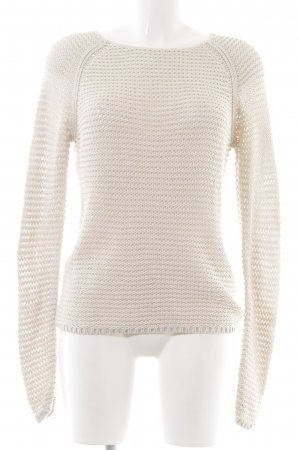 Marc O'Polo Wollpullover creme Zopfmuster Business-Look