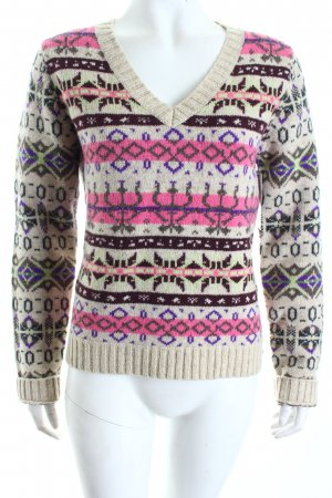 Marc O'Polo Wollpullover grafisches Muster Casual-Look