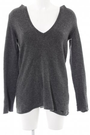 Marc O'Polo Wollpullover grau Webmuster Casual-Look