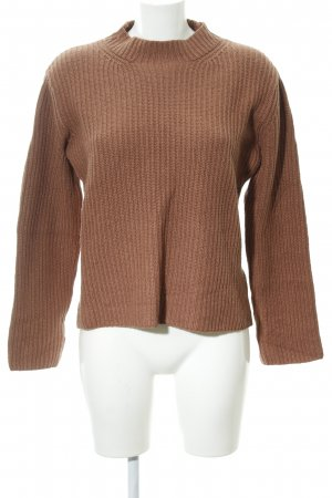 Marc O'Polo Wollpullover rostrot-braunrot Zopfmuster Casual-Look