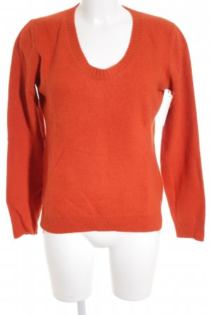 Marc O'Polo Wollpullover ziegelrot Casual-Look