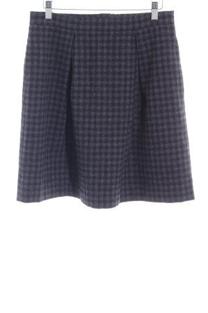 Marc O'Polo Wollen rok donkerblauw-grijs geruite print klassieke stijl