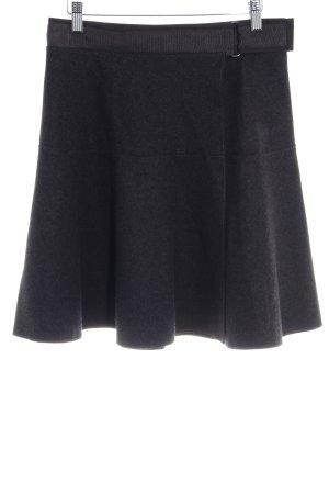 Marc O'Polo Gonna di lana grigio scuro-nero puntinato stile casual