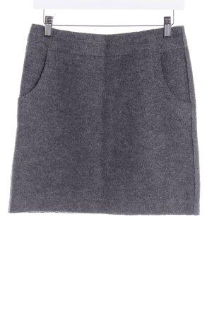 Marc O'Polo Wollen rok grijs-lichtgrijs gestippeld casual uitstraling