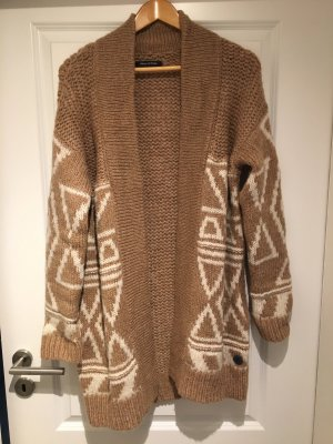 Marc O'Polo Knitted Coat brown-white