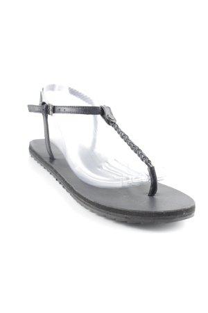 Marc O'Polo Sandalo toe-post nero stile spiaggia