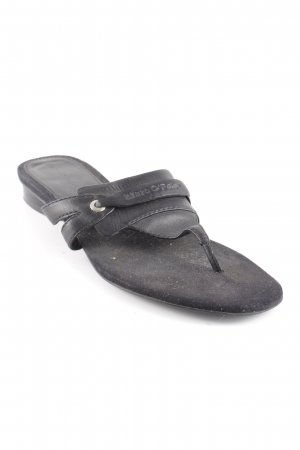 Marc O'Polo Zehentrenner-Sandalen schwarz Casual-Look