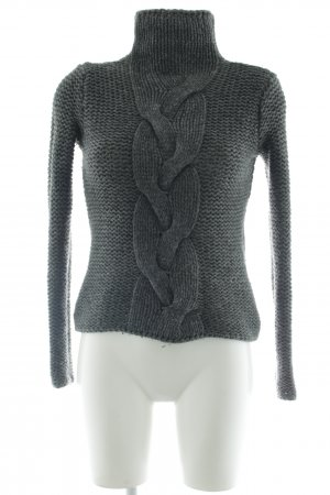 Marc O'Polo Cable Sweater dark grey-light grey flecked casual look