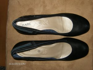 MARC Loafers donkerblauw Leer
