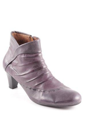 MARC Reißverschluss-Stiefeletten schwarz-dunkelviolett klassischer Stil