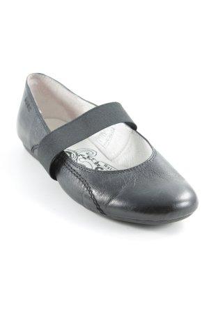 MARC Ballerines à lacets noir style décontracté