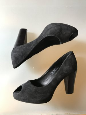 Marc Shoes Peeptoe Pumps 37 schwarz Leder NEU