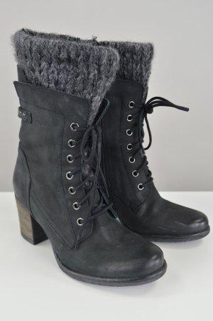 MARC Stiefel Stiefeletten Echtleder schwarz Größe 38