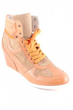 MARC Wedge Sneaker hellbraun-orange Casual-Look