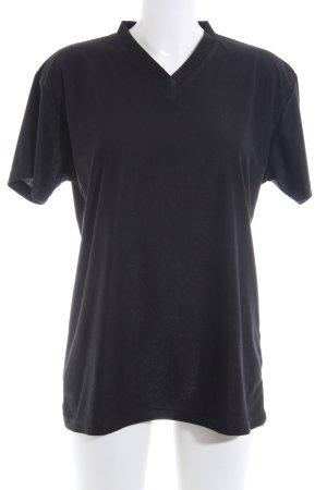 Camicia cropped nero stile casual