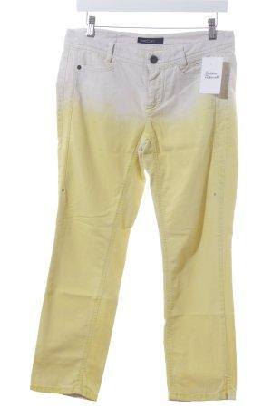 Marccain 7/8 Jeans hellbeige-gelb Farbverlauf Casual-Look