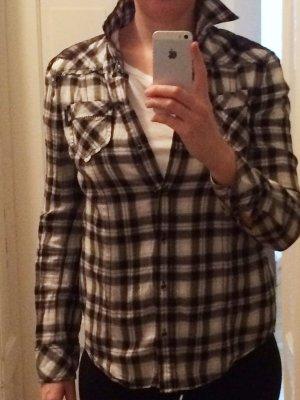 MARCCAIN Bluse mit Spitze & Ziernähten