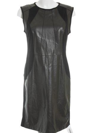 Marccain Vestido corsage negro-marrón elegante