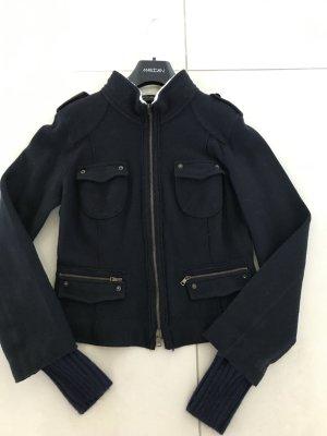 Marccain Jacke aus gewalkter dunkelblauer Wolle
