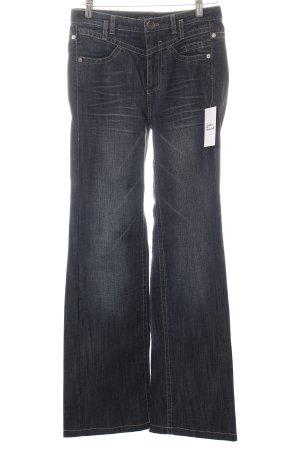 Marccain Denim Flares dark blue jeans look