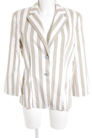Marccain Kurz-Blazer beige-wollweiß Streifenmuster Elegant