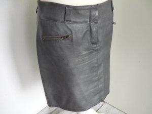 Marccain Lederrock silber, grau N4 = 40 Lammleder