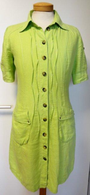 MarcCain Leinenkleid in trendigem Gelbgrün