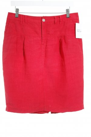Marccain Leinenrock rot Casual-Look