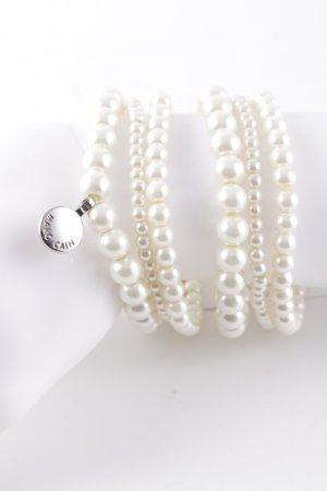 Marccain Bracciale di perle bianco sporco-bianco elegante