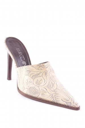 Marccain Pumps brown-pale yellow floral pattern street-fashion look