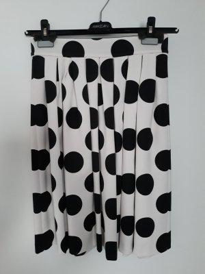 Marc Cain Plaid Skirt white-black viscose