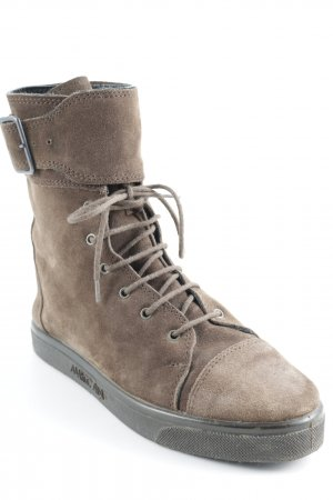 Marccain Lace-up Booties brown simple style
