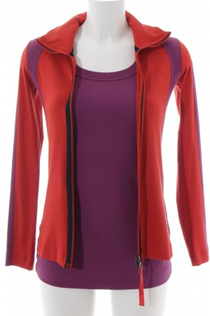Marccain Sports Jersey Twin Set lila-rot sportlicher Stil