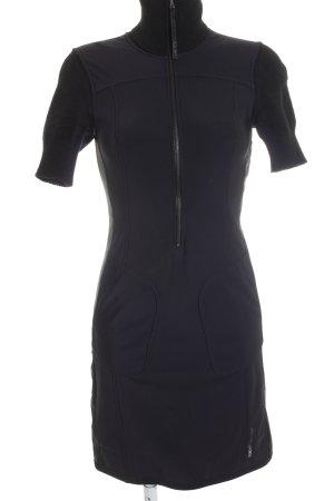 Marccain Sports Kurzarmkleid dunkelblau-schwarz sportlicher Stil